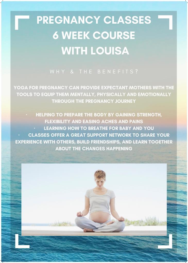 Pregnancy Yoga 6 week course example